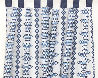 Navy & Gray Tribal Curtain Panels | Walker's Collection | Wyatt's Collection