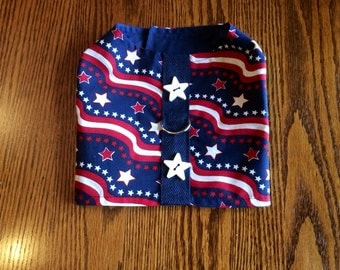 4th of July Patriotic Pet Harness