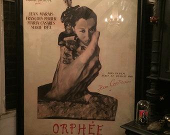 1950 Rare French Jean Cocteau's Orphèe Surrealism Cinema Large Film Poster