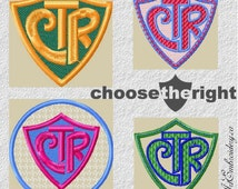 CTR Shield Choose the Right - Machine Embroidery Designs Set