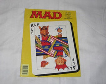 vintage july 1987 mad magazine with alf on the cover