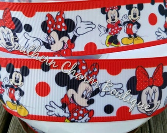 """3 yards of 1 1/2"""" minnie mouse grosgrain ribbon"""