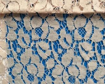 off  white lace fabric,circle LACE fabric, beautiful off white  curtain fabric,pure white Lace fabric