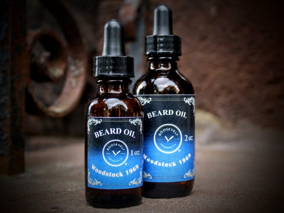 Beard Oil with Vitamin E - Woodstock 1969 Scent (Down to Earth with Patchouli and Clary Sage)