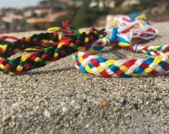 Five Strand Braid Woven Friendship Bracelet