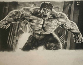 The Hulk. Charcoal original.