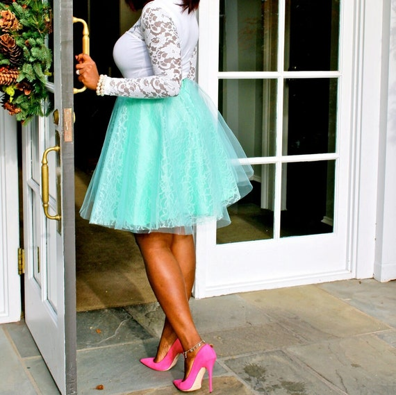 Tulle Skirt with Lace
