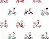 Vintage Market fabric, Riley Blake Designs, Bike Ride in Mint (C4561-Mint) -- BY THE YARD
