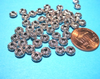 Antique Silver Spacer Metal beads 6x3mm