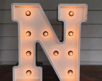 Vegas Boneyard 60cm Handmade N Letter Light