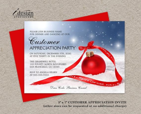 holiday customer appreciation party invitations festive diy