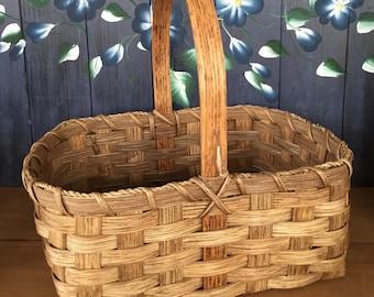 Handmade Basket,Market Basket, Storage Basket, Farmers Market, Garden Basket, Primitive Decor, Kitchen Decor, Made in USA