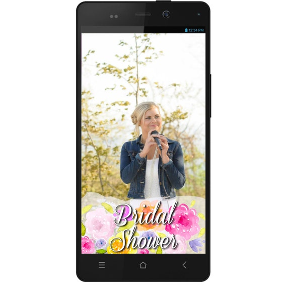 Bridal Shower Party Snapchat GeoFilter Digital Download