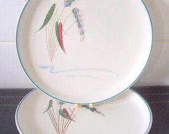 Denby Greenwheat Salad / Dessert Plate 1950's