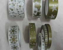 Washi tape 8 rolls of 10 metres