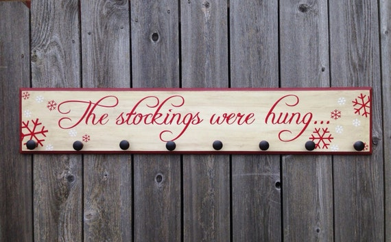 The Stockings Were Hung Wood By Fillintheblankspaces On Etsy