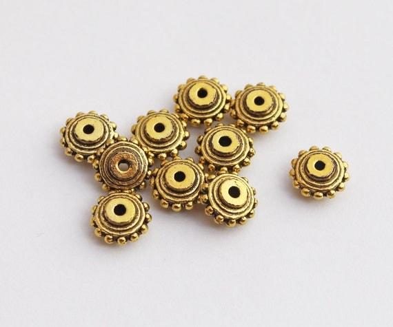 Fancy brass rondelles pieces mm tribal