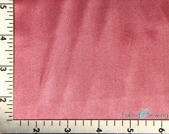 Deep Dusty Pink Shiny & Dull Charmeuse Satin Fabric Polyester 5 Oz 58-60""
