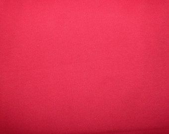 Fabric - cotton sweatshirt jersey fabric - red