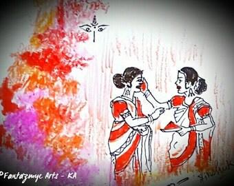 Sindoor Khela(Play with Vermillion Colour)