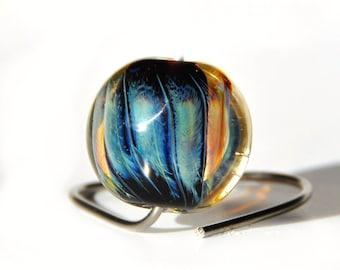 Lampwork  lentil bead Filipa