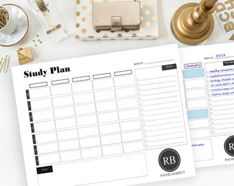 Student PLANNER Printable, US Letter size + A4 size available, Personalized STUDY Planner, Study Planner, College Planner