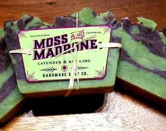 Lavender and Key lime all natural face, body and shampoo bar