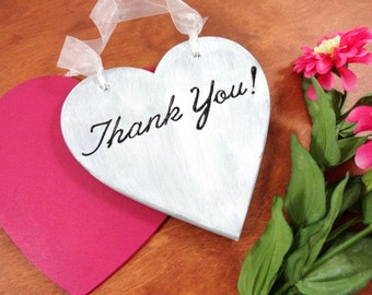 Wedding Photo Prop Thank You Wedding Sign Thank You Photos Engraved Signs Wedding Heart Signs Bride and Groom Signs Personalized Signs