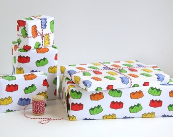 2 Pack - Christmas Cracker Crown Wrapping Paper Sheets