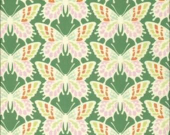 100% Cotton Fat Quarter Freespirit Clementine Flutterby in Jade Butterflies