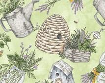 Gathered Herbs - Green by Maywood Studio (8333-G) Fabric Yardage