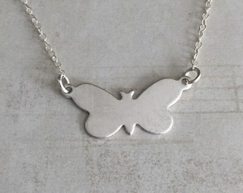 Silver Butterfly Necklace, Butterfly Necklace, Sterling Butterfly Necklace, Sterling Silver Butterfly, Silver Necklace, Butterfly Pendant