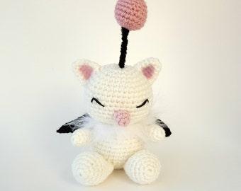 Made to order Crochet Final Fantasy Moogle Amigurumi Plushie
