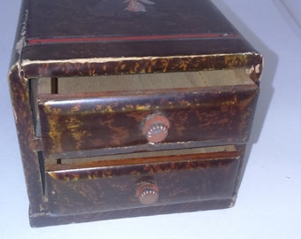 Chest for two packs of playing cards Japanese scotty dog