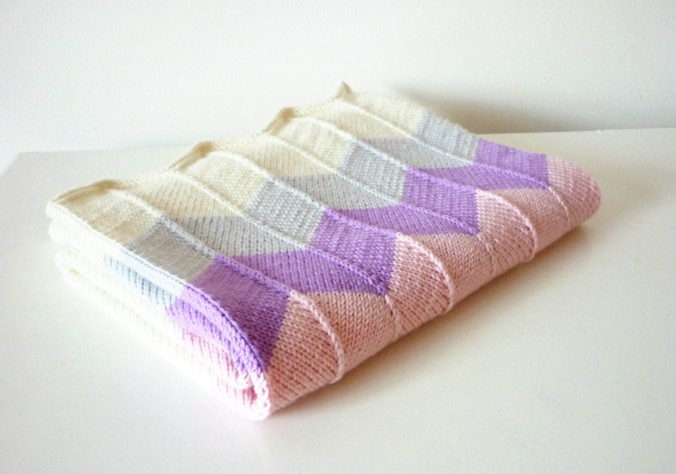 Hand Knitted Baby Blanket Baby Blanket Knit Baby Blanket
