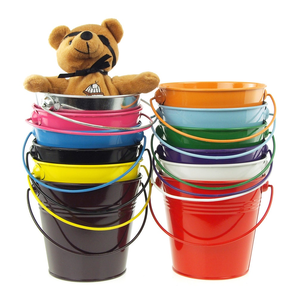 Metal Pail Buckets Party Favor 5 Inch