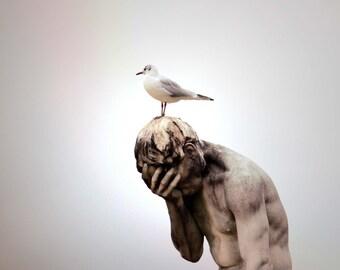 "Travel Photography // Art print // Paris // ""Humble Statue"""