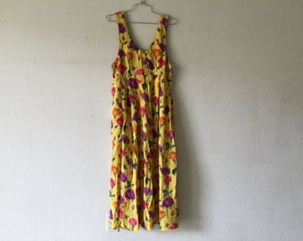 Vintage New 1980's Zashi Dress/ Made in India