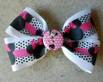 Minnie Mouse Hair Bow. Minnie Mouse Hair Clip.