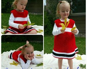 Custom crocheted dresses.