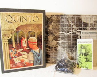 Quinto Bookshelf Game, Numbers Addition, Math Strategy, Learning Board Game, 1964 3M Bookcase Game, Multiplication Game, Home School Game