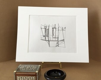 Original Abstract Pen-and-Ink Drawing