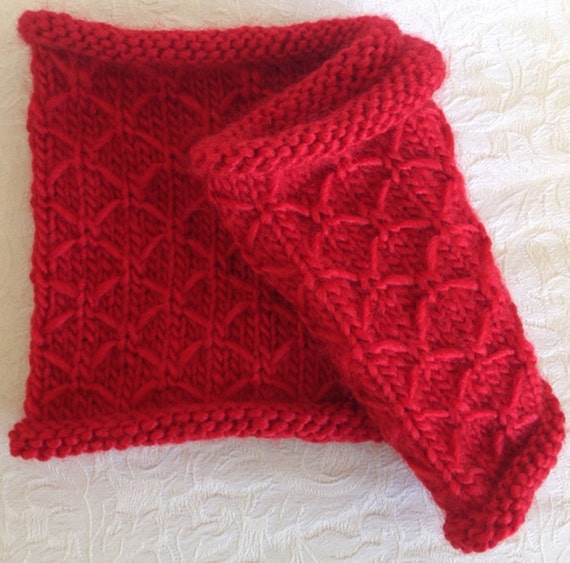 Knitting Quilted Lattice Stitch : Quick knit kit quilted lattice stitch cowl neck warmer