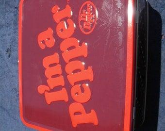 Antique Dr Pepper Lunch Box .. Excellent Condition