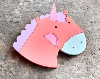 Unicorn brooch - Laser cut acrylic