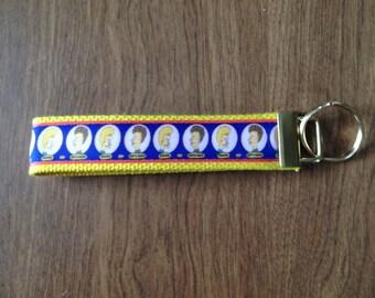 Beavis  and Butthead wristlet key fob holder key chain zipper pull
