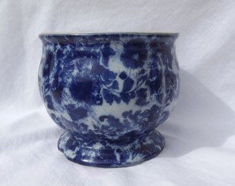 Vintage Pot Flo Blue