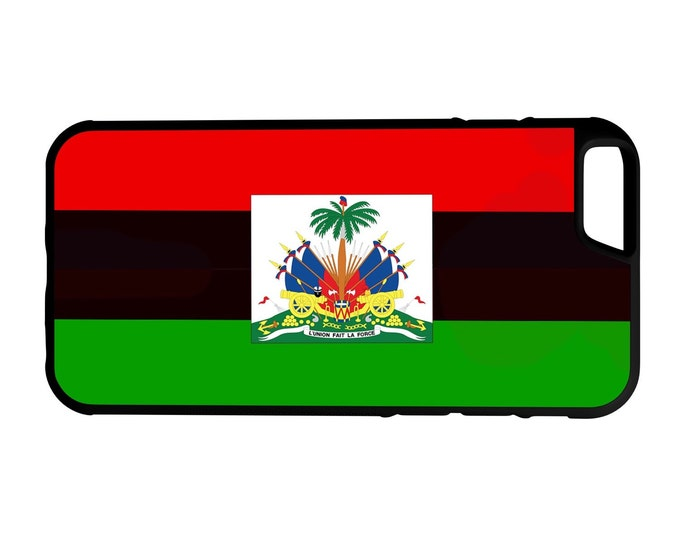 Haitian Pan African Flag iPhone Galaxy Note LG HTC Hybrid Rubber Protective Case Haiti