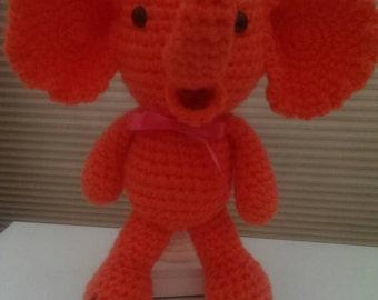 Amigurumi Orange Elephant