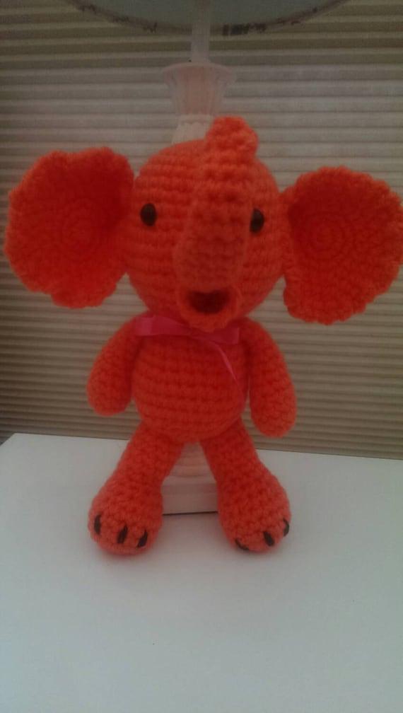 Peelable Orange Amigurumi : Amigurumi Orange Elephant